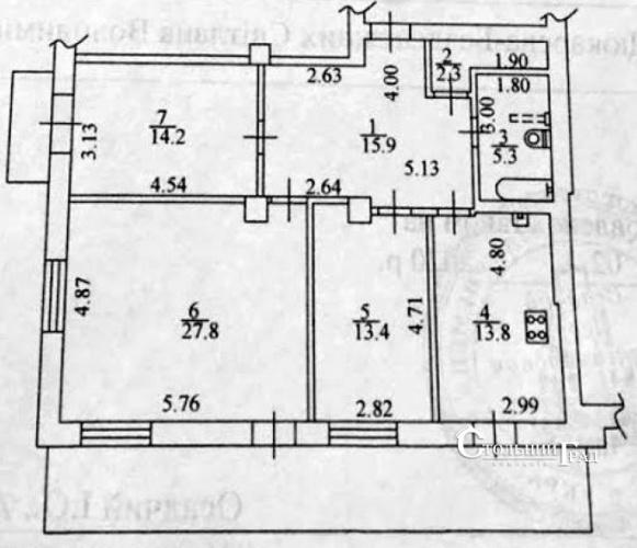 Продам 3-к квартиру в деловом центре столицы площадь Льва Толстого - АН Стольный Град фото 12