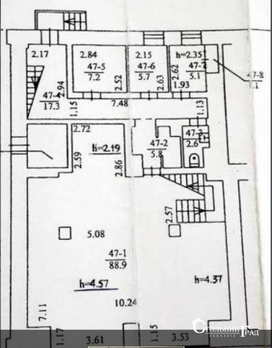 Аренда фасадного помещения 197 кв.м на площади Льва Толстого фото 6