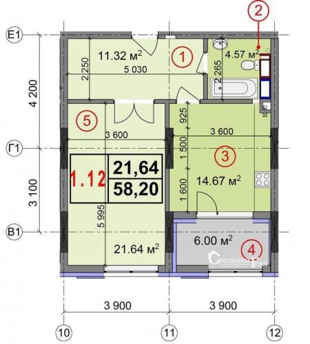Продажа видовой 1-к квартиры в новом доме на Печерске - АН Стольный Град фото 5