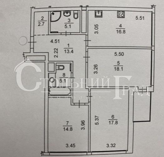 Продаж 3-к квартири в новому будинку ЖК Хофманн Хаус поруч з цирком - АН Стольний Град фото 2