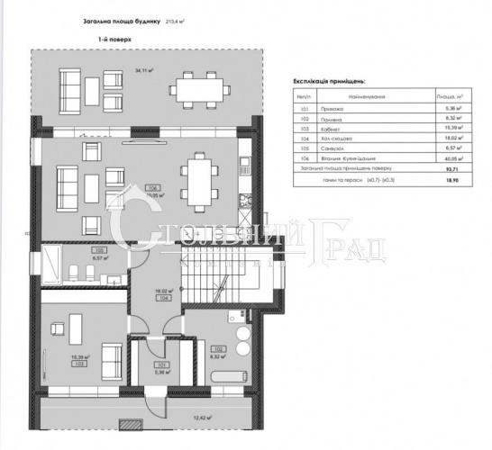 Продам будинок 220 кв.м на березі Дніпра в котеджному містечку Хутір Русин - АН Стольний Град фото 5