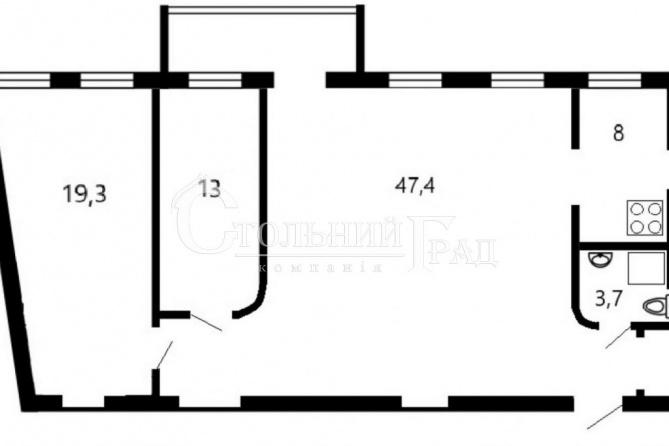 Продаж просторої 3-к квартиру в центрі Пейзажна алея - АН Стольний Град фото 15