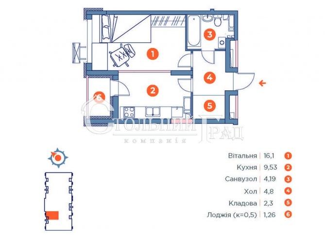 Продаж 1-к квартири в ЖК Оранж-Сіті - АН Стольний Град фото 2